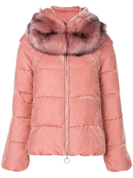 Twin-Set jacket hooded jacket women purple pink