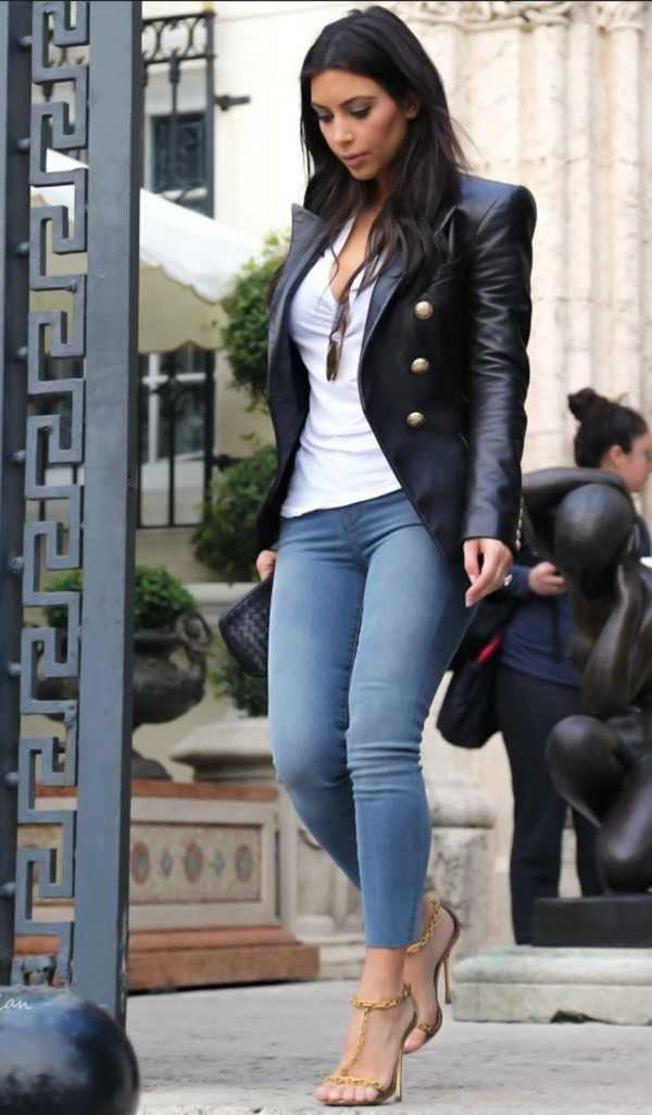Jeans Fashion Leather Jacket Outfit Fall Outfits