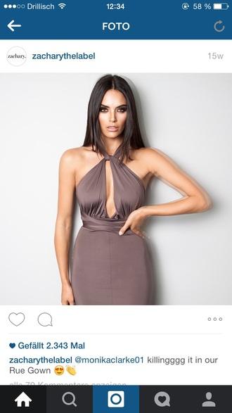 dress mocca brown dress