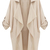 Beige Long Sleeve Casual Loose Pockets Coat - Sheinside.com