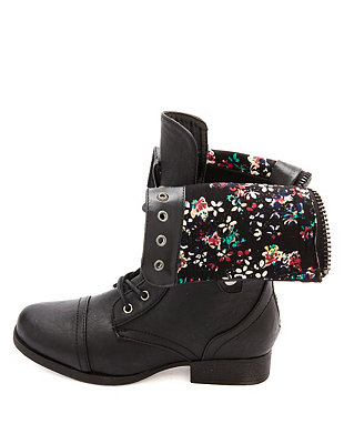 Over combat boots: charlotte russe
