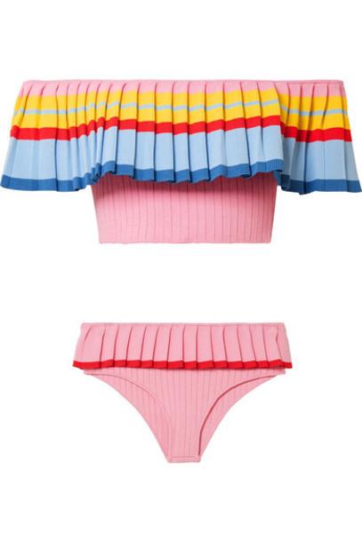 tabula rasa bikini baby knit pink baby pink swimwear