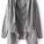 Grey Long Sleeve Tassel Loose Cardigan Sweater - Sheinside.com