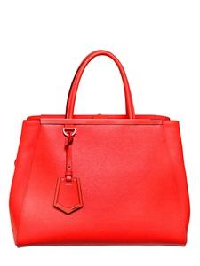Medium 2jours textured leather bag