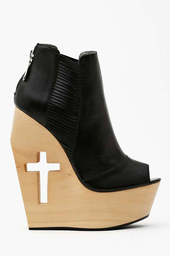 Grey City Slash Cutout Wedge in  Shoes Platforms at Nasty Gal