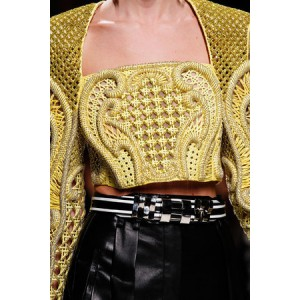 Balmain spring 2013 rtw embroidered cropped top as seen on miranda kerr
