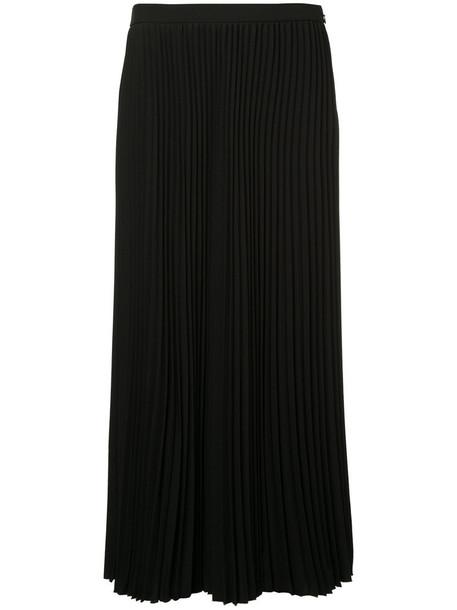 Ck Calvin Klein skirt pleated skirt pleated women spandex black