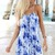 Blue Mini Dress - Blue Tye-Dye Mini Dress | UsTrendy