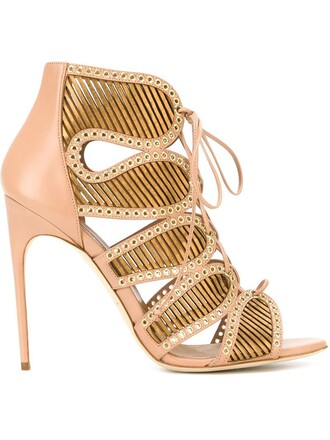 sandals lace purple pink shoes