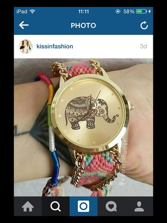 jewels watch elephant summer cute boho