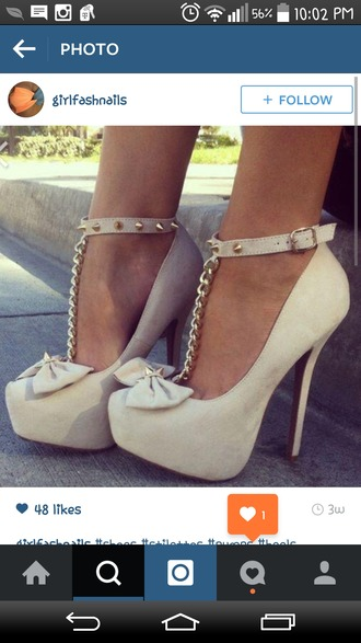 beige shoes beige high heels high heels heels with bows