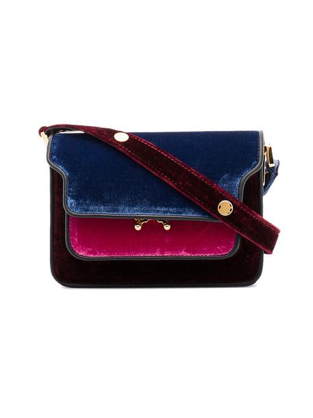 cross mini women bag black velvet