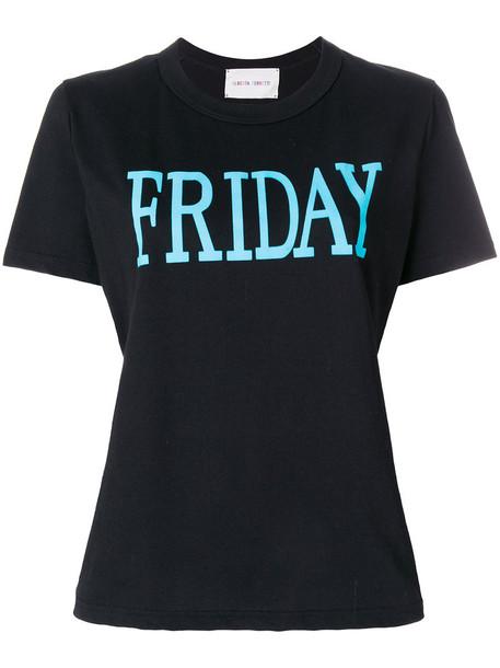 Alberta Ferretti t-shirt shirt t-shirt women friday cotton print black top