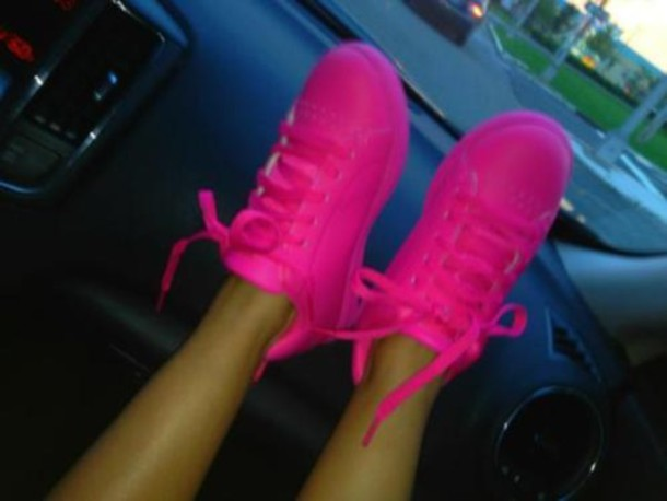 neon pink sneakers Shop Clothing