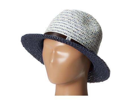 San Diego Hat Company UBF1006 Mixed Braid Belted Fedora Indigo Blue - Zappos.com Free Shipping BOTH Ways