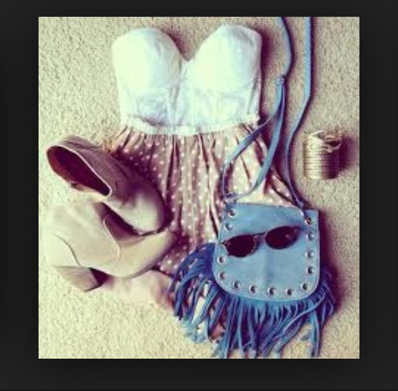 bag summer outfits summer outfits girly fashion tumblr tumblr girl cute lookbook vintage dress summer outfits summer dress shorts shoes blue dress beige dress nude white dress stiped high waisted short cowboy boots boots summer lovely colorfull cute dress clothes
