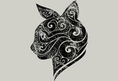 shirt,animals,portrait,cats,abstract,art,design,style,illustration,swirly,dbh
