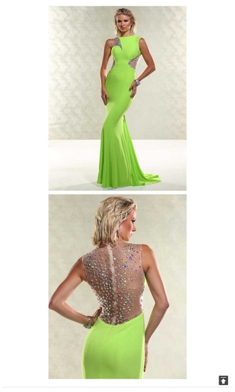 dress green bling prom dress prom gown long prom dress gown lime green dress bling dress