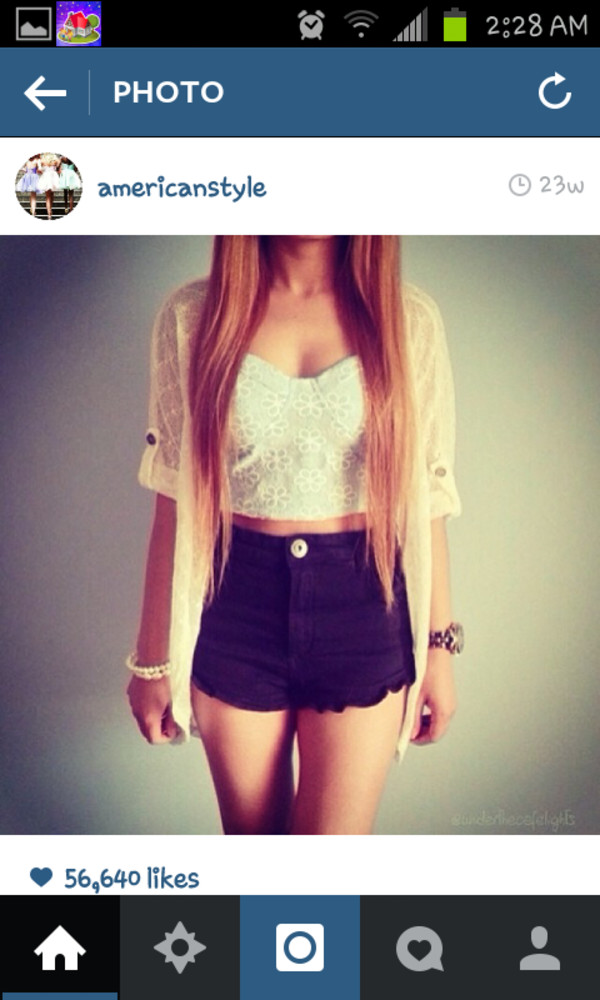 shorts High waisted shorts black shorts crop tops white lace sweater summer outfits top cardigan