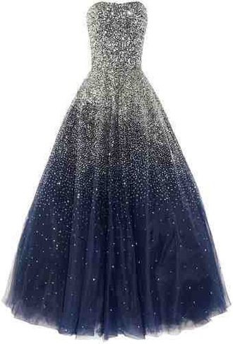 dress sparkle midnight blue gown gala galaxy dress