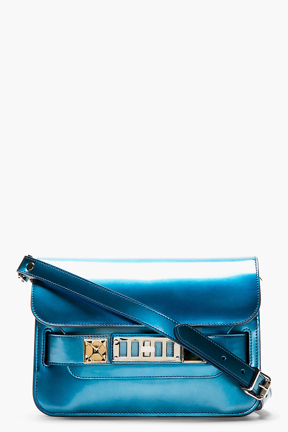 proenza schouler ocean blue ps11 mini shoulder bag
