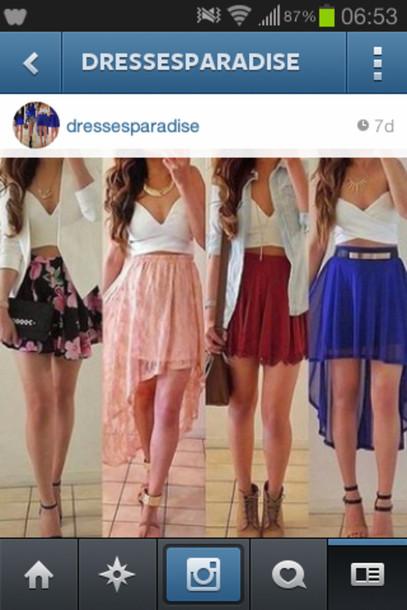 skirt blue skirt