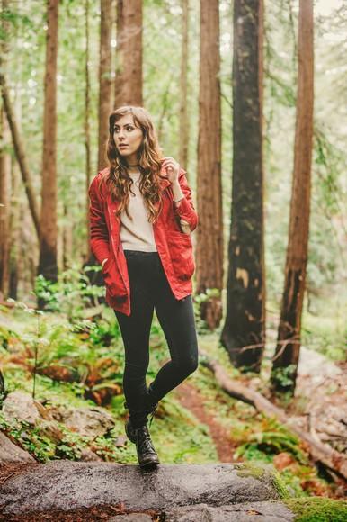 red coat windbreaker mod fox blogger
