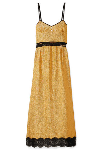 dress maxi dress maxi lace gold