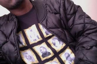 shirt black black shirt black t-shirt black jacket singer rapper jacket
