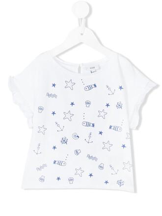 t-shirt shirt water white cotton top