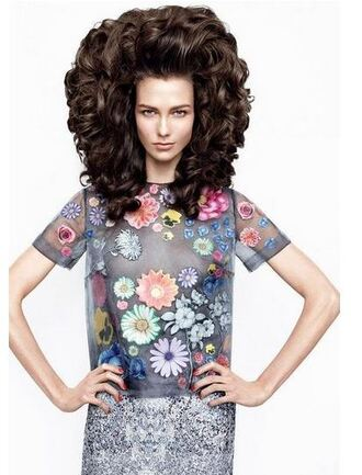 skirt top blouse floral flowers karlie kloss editorial