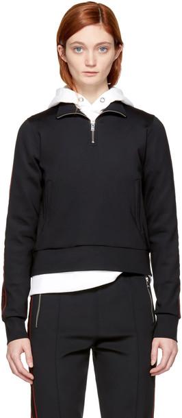 Misbhv pullover zip black sweater