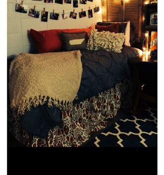 home accessory navy bedding bedroom blanket cute home decor college