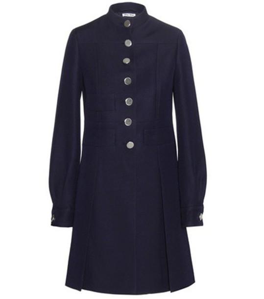 Miu Miu coat wool coat wool blue