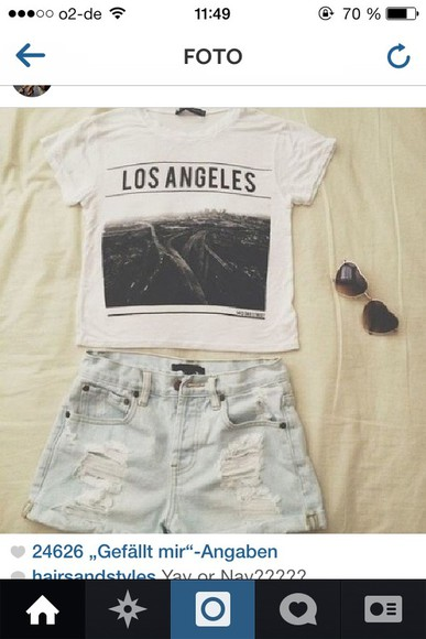 shirt shirt white los angeles