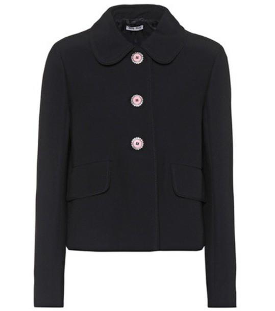 Miu Miu jacket embellished black