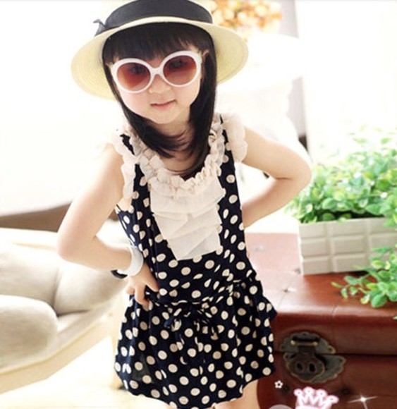 cute summer dress girl's clothes all cute outfits girly chiffon polka dots dress polka dots summer dress summer outfits summer dresses cute dress children toddler children