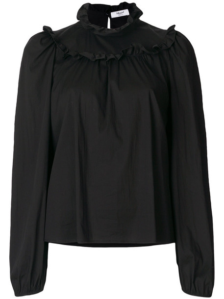Blugirl top women spandex cotton black