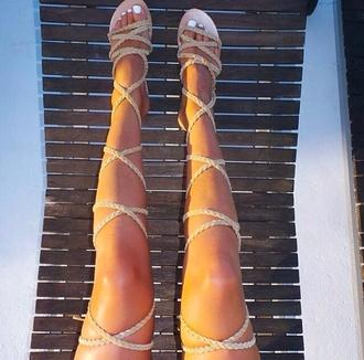 shoes sandals summer shoes rope lace up heels greek sandals gladiators
