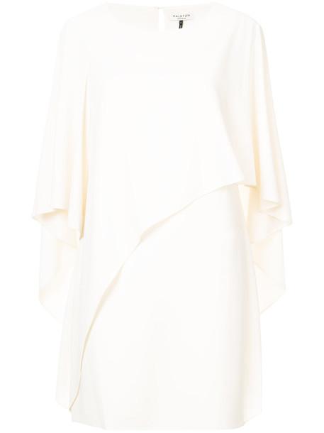 Halston Heritage dress mini dress mini women spandex draped white