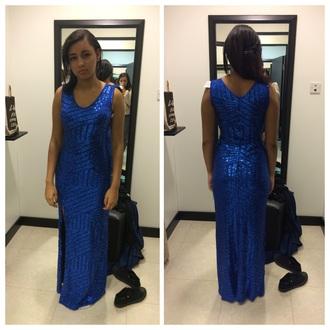 dress prom cute dress make-up prom dress blue dress sparkly dress slit dress prom gown pretty girly
