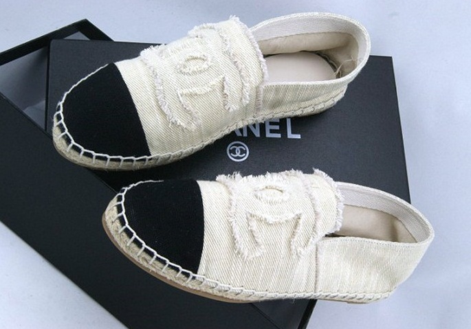 Chanel Canvas Sneakers Flat Shoes