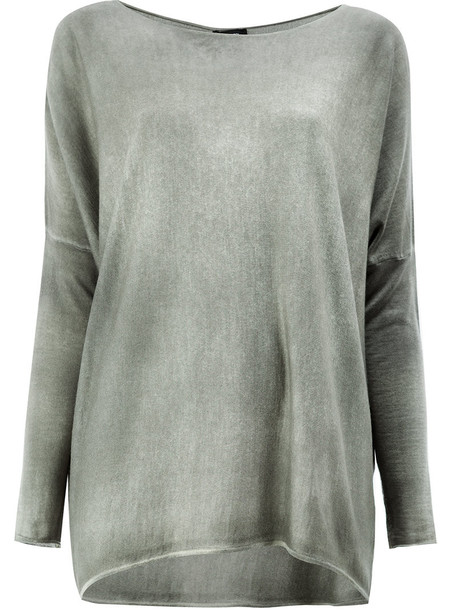 jumper women silk grey sweater