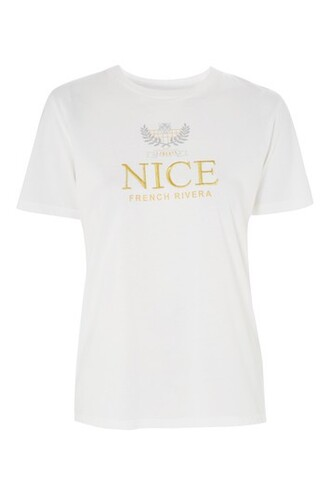 t-shirt shirt nice embroidered white top