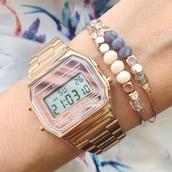 jewels,Casio,rose gold,vintage,casio watch