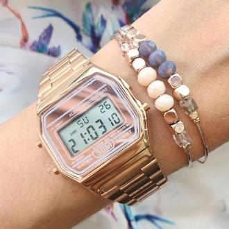 jewels casio rose gold vintage casio watch