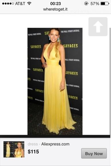 yellow dress blake lively