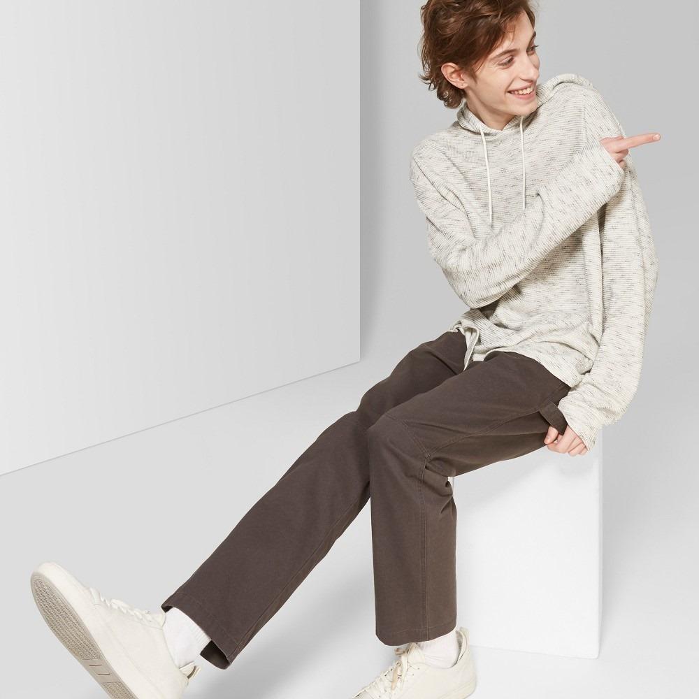 Men's loose fit long sleeve jacquard knit hooded sweatshirt - original use™ black m