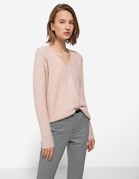 Stradivarius sweater pastel pink pastel pink