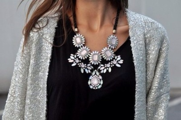 jewels silver necklace